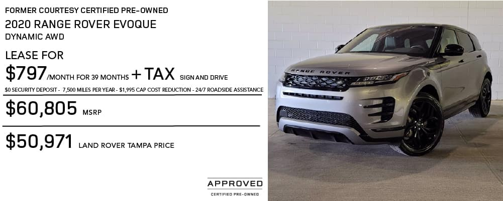 Certified Pre-Owned 2020 Range Rover Evoque Dynamic