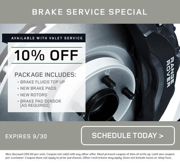 LR Brake Service Special