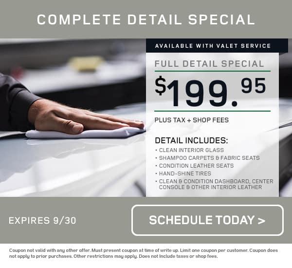 LR Detail Service Special