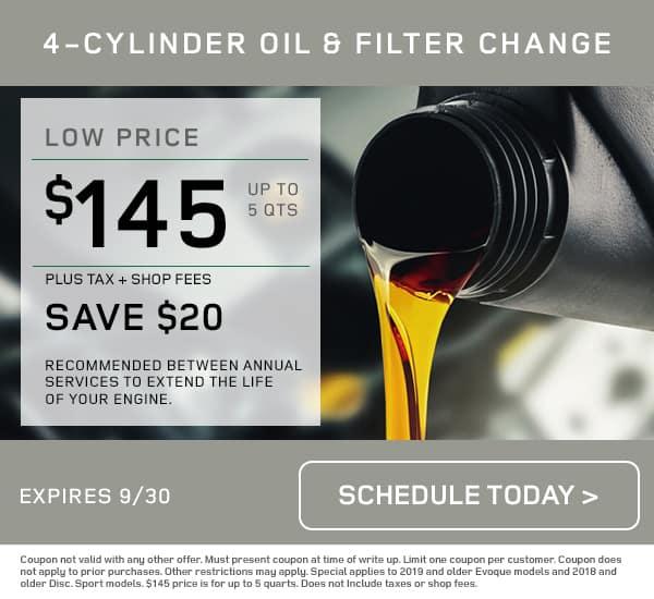 LR Service Oil Change Special