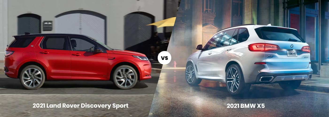 2021 Land Rover Discovery Sport vs 2021 BMW X5 comparison