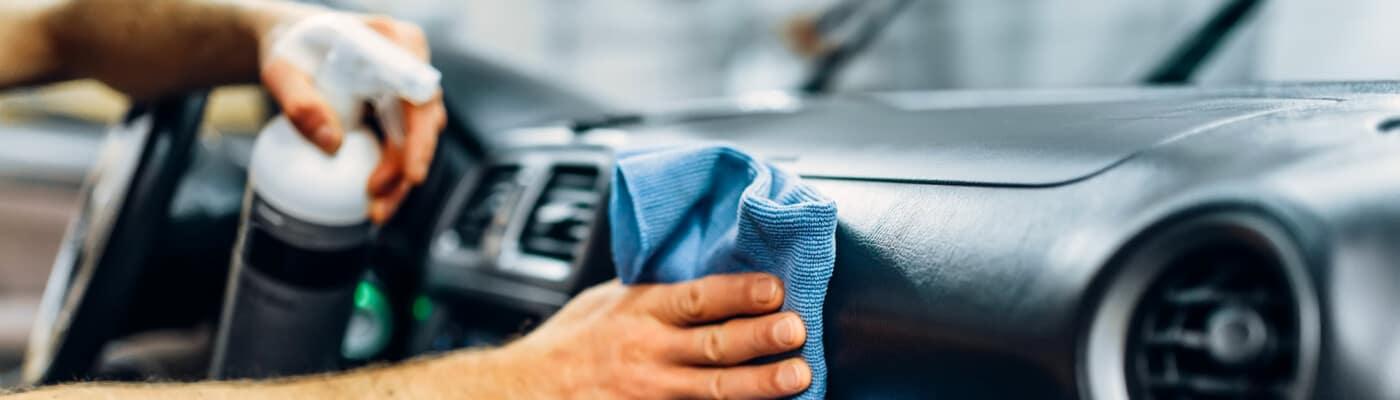 inside dashboard car detailing