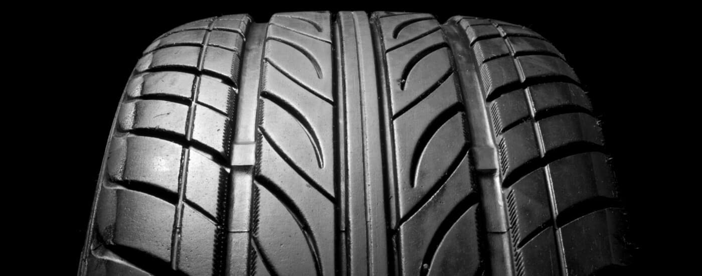 Close up of a tire