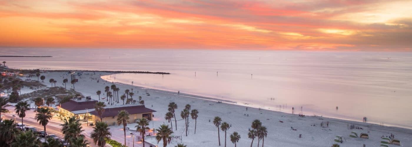 tampa florida beach during sunset