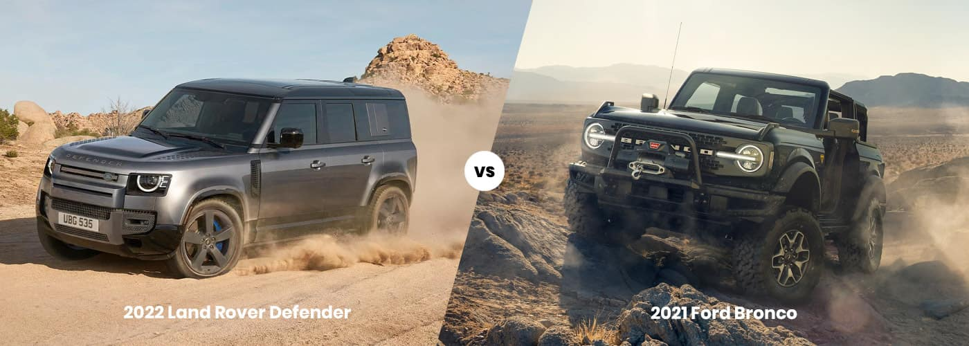 2022 Land Rover Defender vs 2021 Ford Bronco Comparison