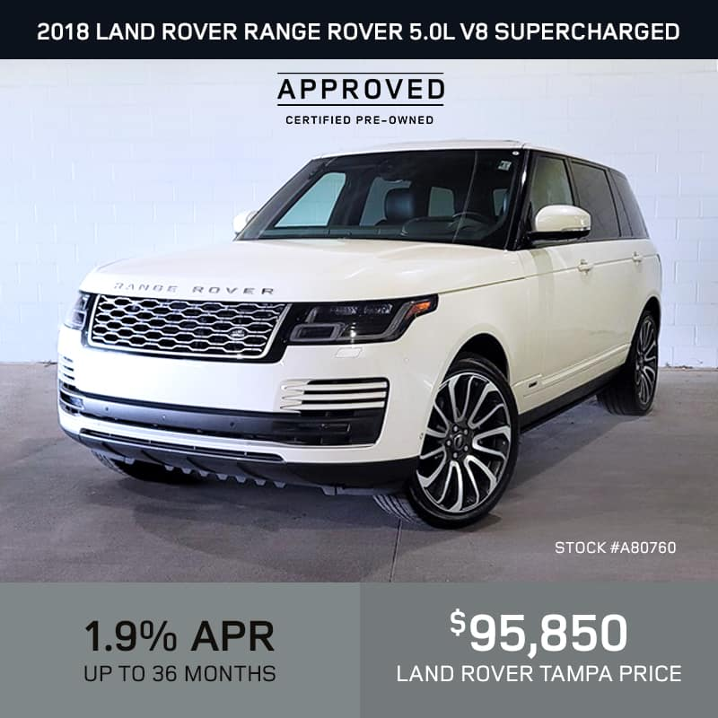 Certified Pre-Owned 2018 Land Rover Range Rover 5.0L V8 Supercharged 4 Door 4WD