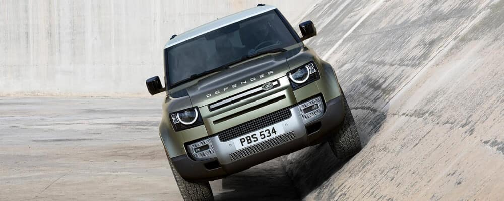 2021 Land Rover Defender on a hill