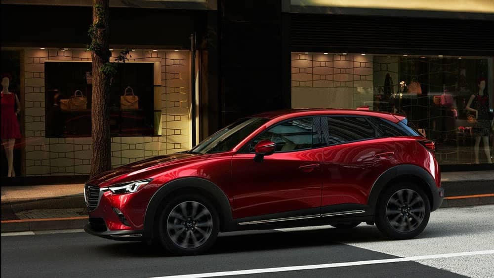 2019 Mazda CX-3 in Soul Red on City Street