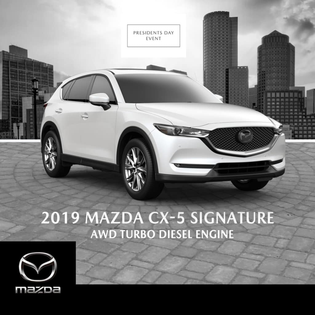 New 2019 Mazda CX-5 Signature Diesel SKYACTIV-D 2.2L DIESEL ENGINE- Turbocharged With Navigation & AWD