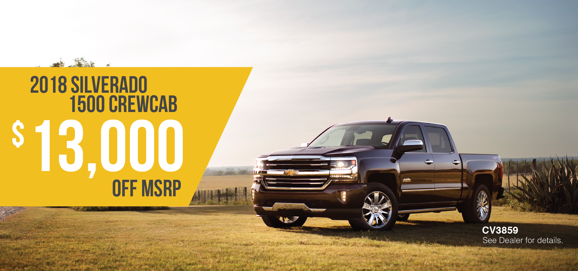2018 Silverado 1500 Crew Cab - Save $13,000 CV3859 - See dealer for details