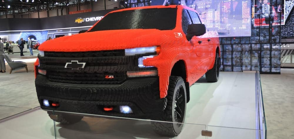 Chevrolet Pickup Truck made out of Legos