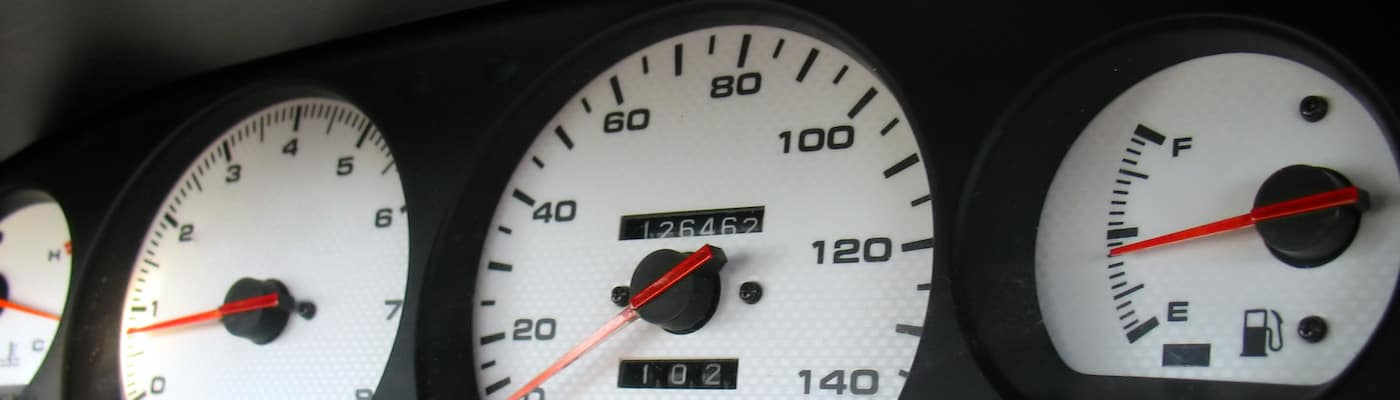 Gauges Close Up of Odometer