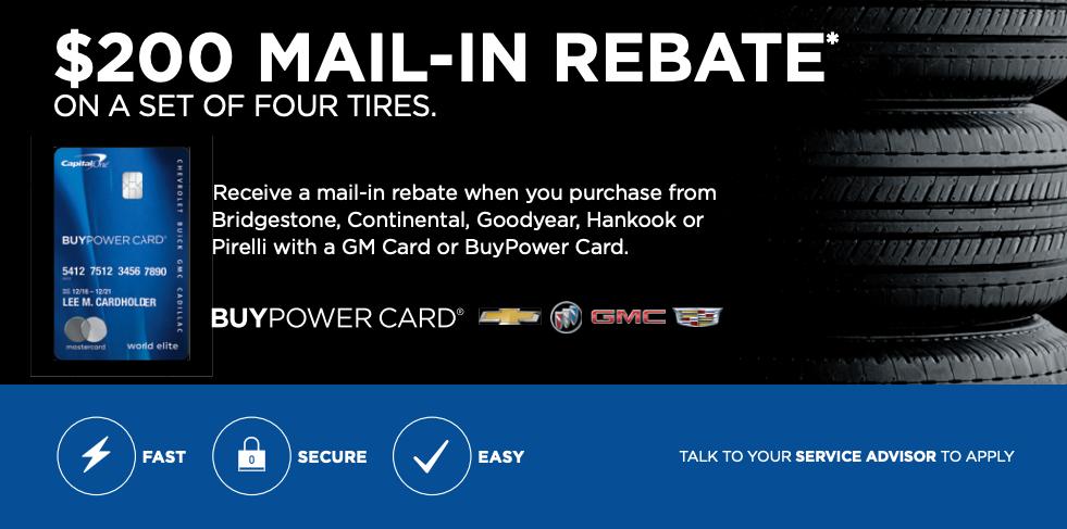 Mail In Rebate - Tires