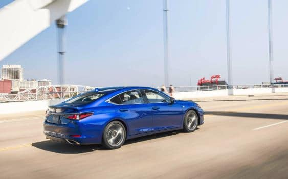 2019 Lexus ES 350 driving on Kansas highway