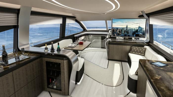 Lexus LY 650 yacht Interior front facing