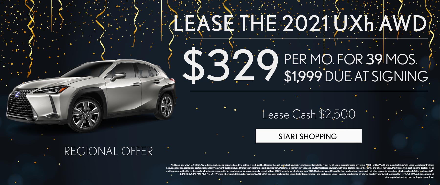 2021 UXh AWD Regional Offer