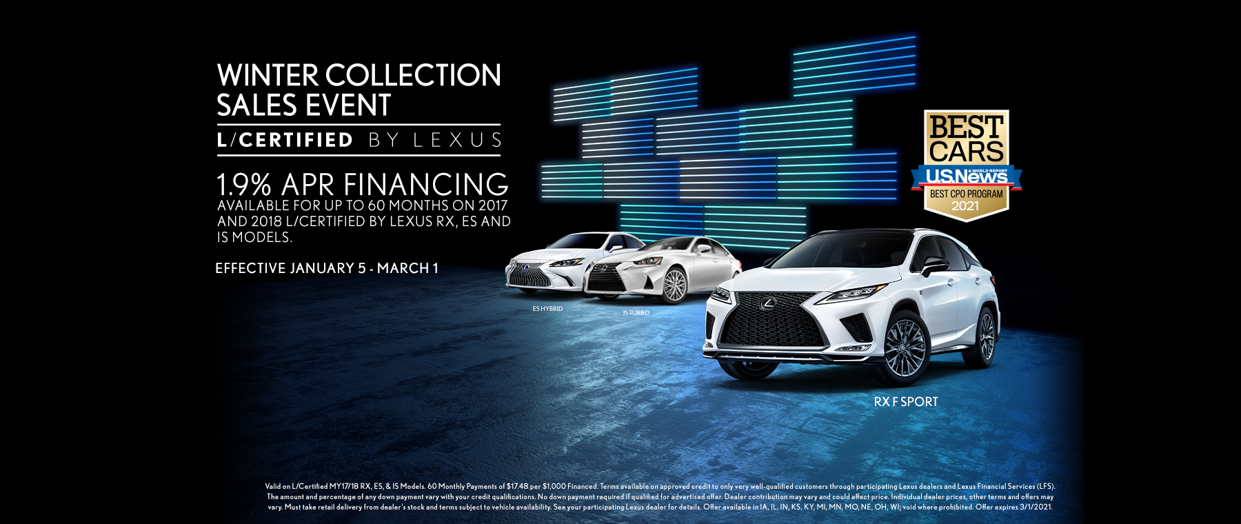L/Certified Winter Collection Sales Event