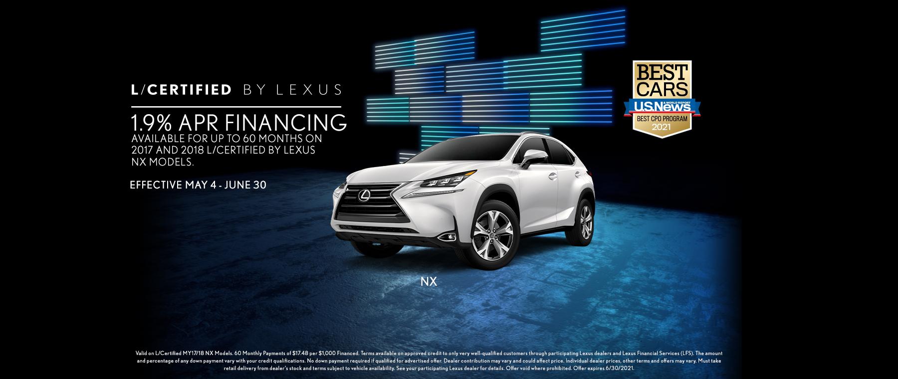 Lexus May LCert NX Offer