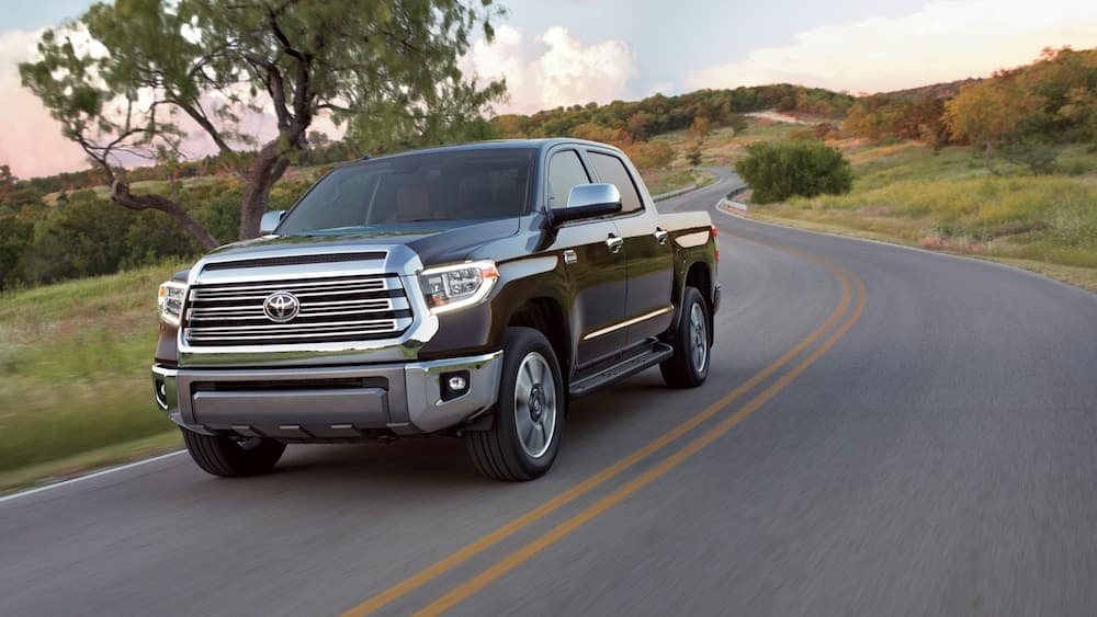 2019 Toyota Tundra on the road