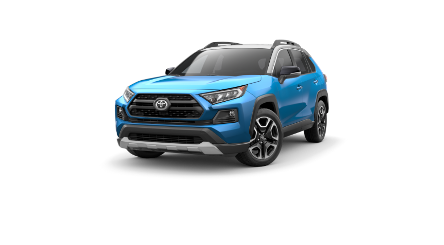2019 RAV4 Blue Flame With Ice Edge Roof