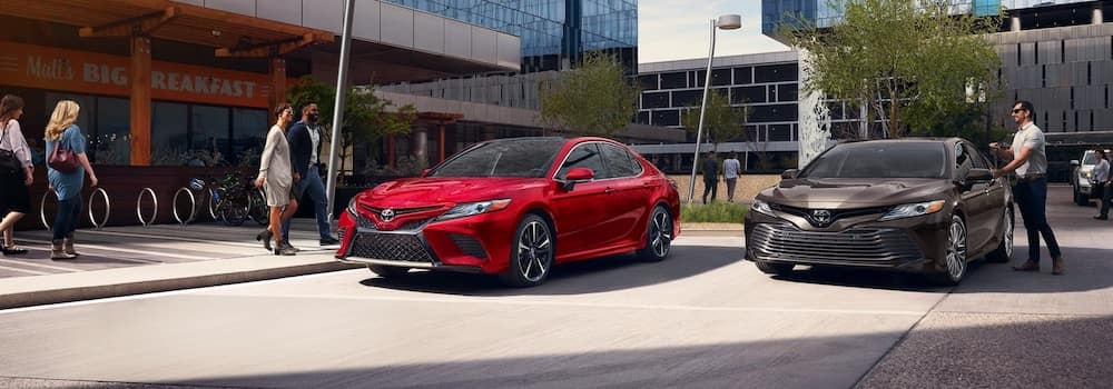2019 Toyota Camry models parked