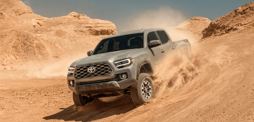 2020 Toyota Tacoma offroading in desert