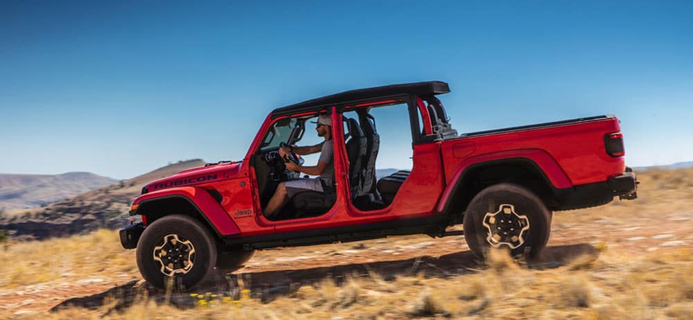 2020 Jeep Gladiator Firecracker Red Clearcoat exterior off road