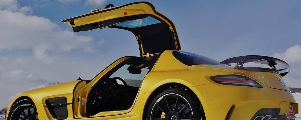 Mercedes with wing doors