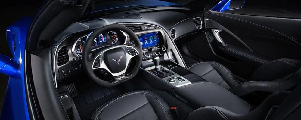 2019 zo6 interior with paddle shifters