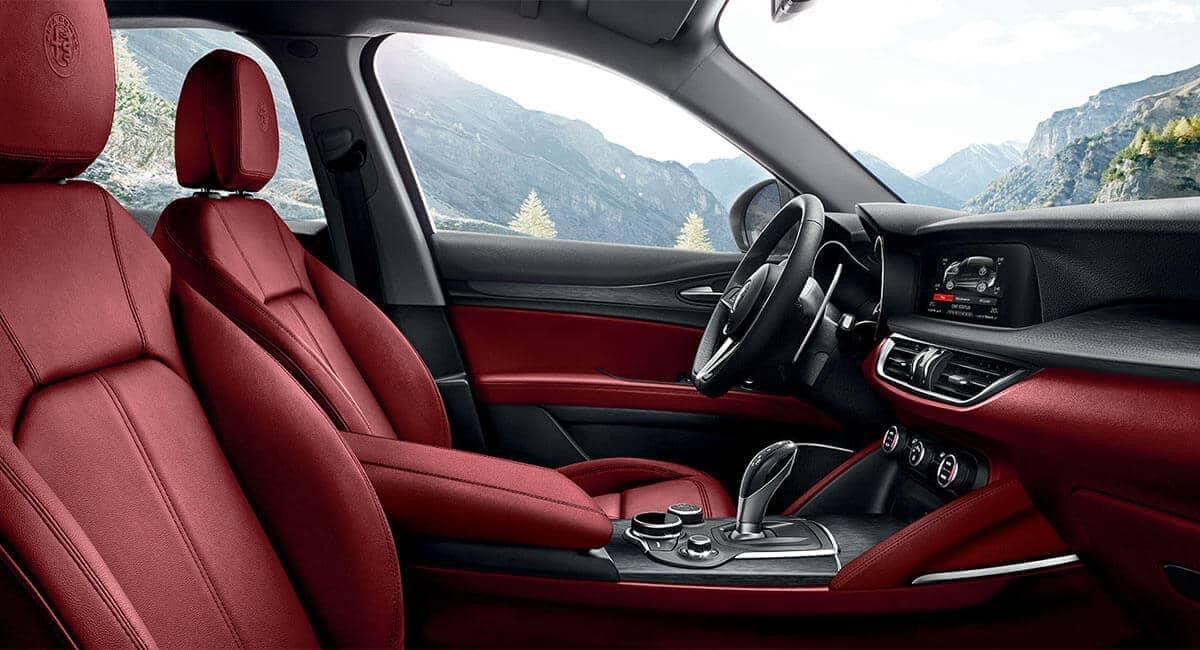 2018 Alfa Romeo Stelvio interior mountain view