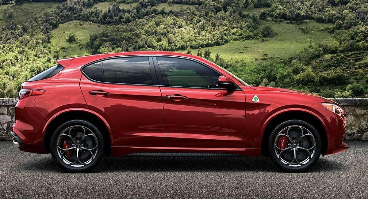 2018 Alfa Romeo Stelvio Quadrifoglio parked