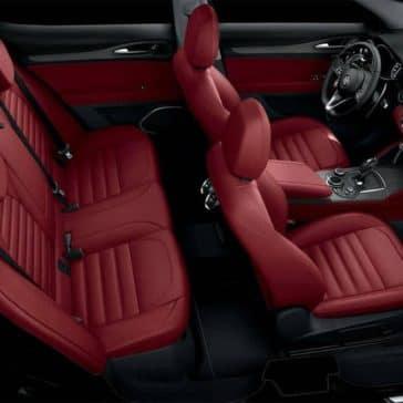 2018 Alfa Romeo Stelvio interior seating