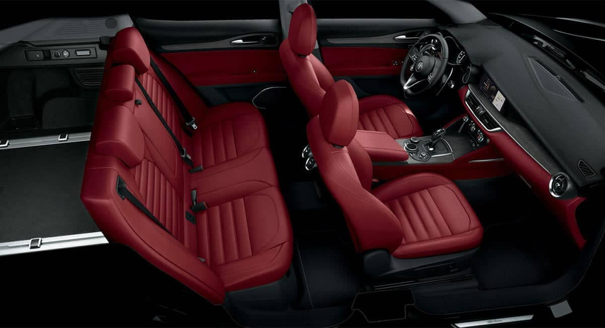 2018 Alfa Romeo Stelvio interior seating