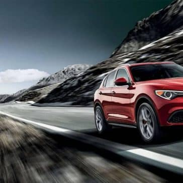 2018 Alfa Romeo Stelvio Ti on a mountain drive