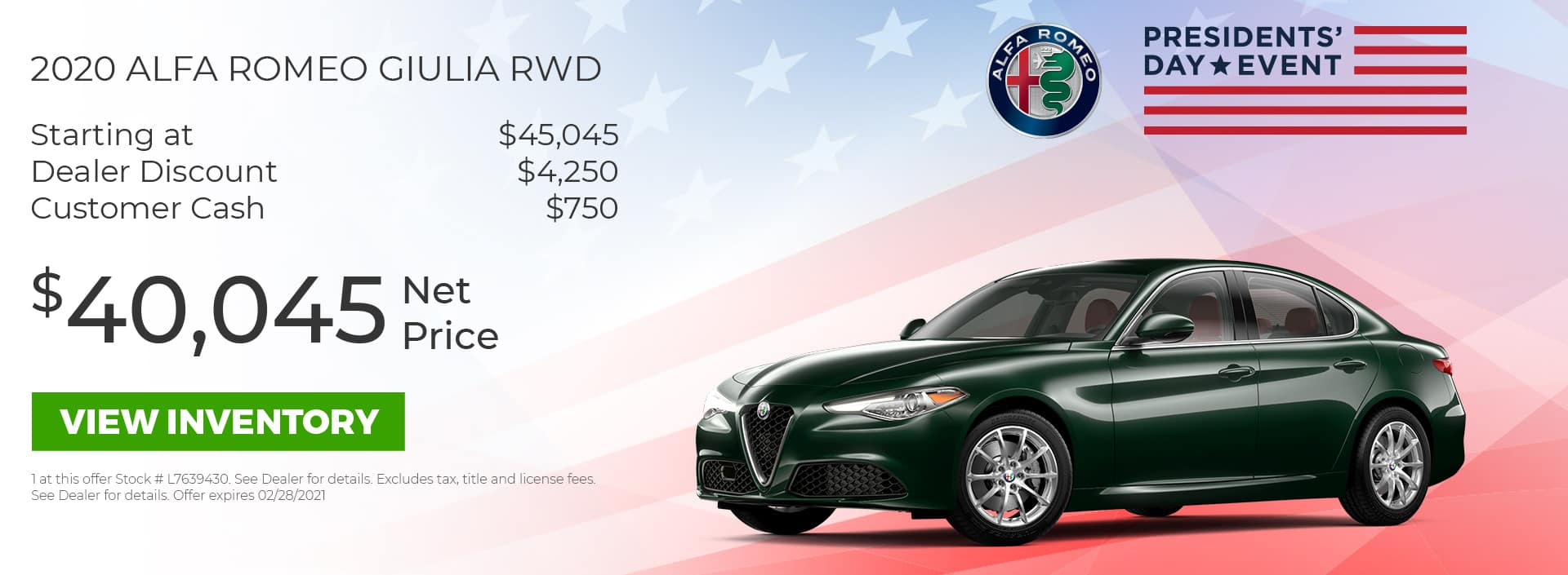 Giulia RWD Cash HP