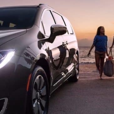 2018 Chrysler Pacifica on the beach at dusk