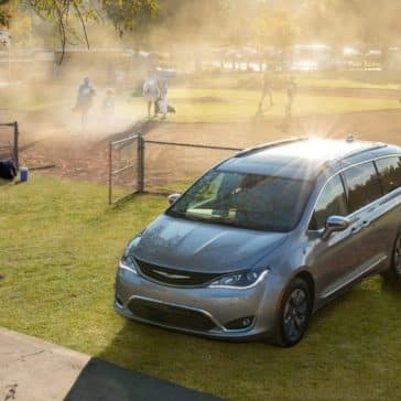 2018 Chrysler Pacifica on a green field