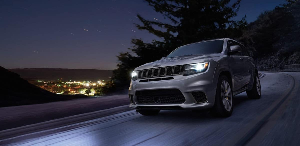 2018 Jeep Grand Cherokee on a night drive