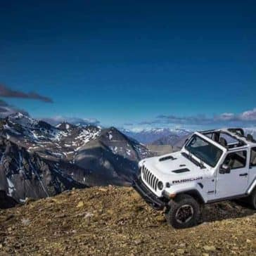 2018 Jeep Wrangler on a mountain top