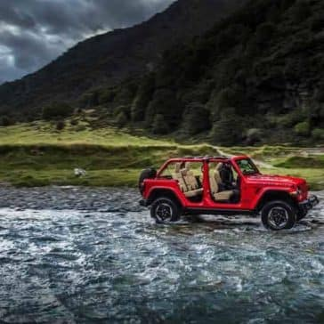 2018 Jeep Wrangler crossing stream