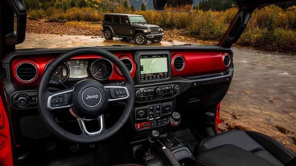 2018 Jeep Wrangler dashboard