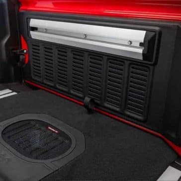 2018 Jeep Wrangler cargo space