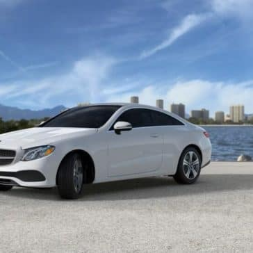 2018 Mercedes Benz E Class Coupe beach