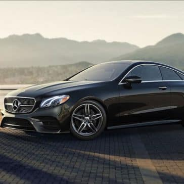 2018 Mercedes Benz E Class Coupe mountains