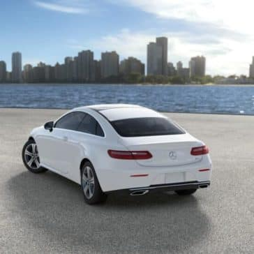 2018 Mercedes Benz E Class Coupe rear view