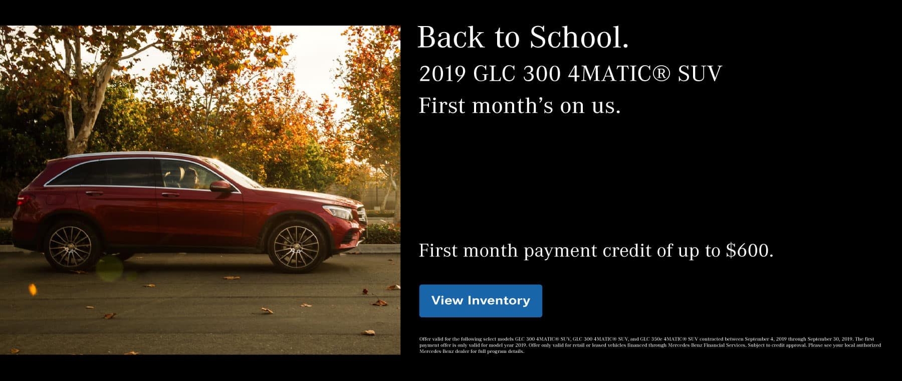 First Month's On Us GLC 300