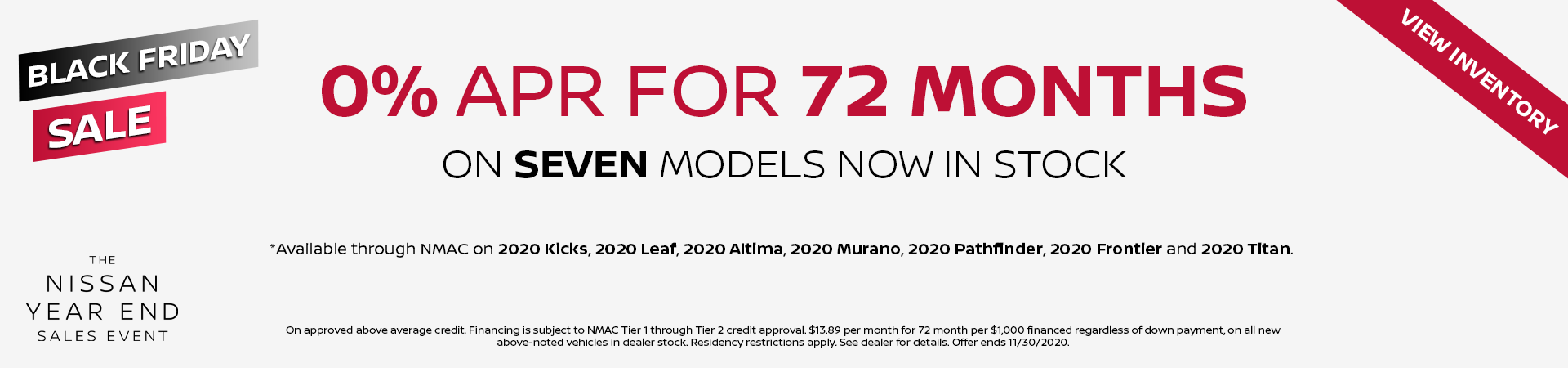 Nissan 0% APR Financing Nov 20 v5