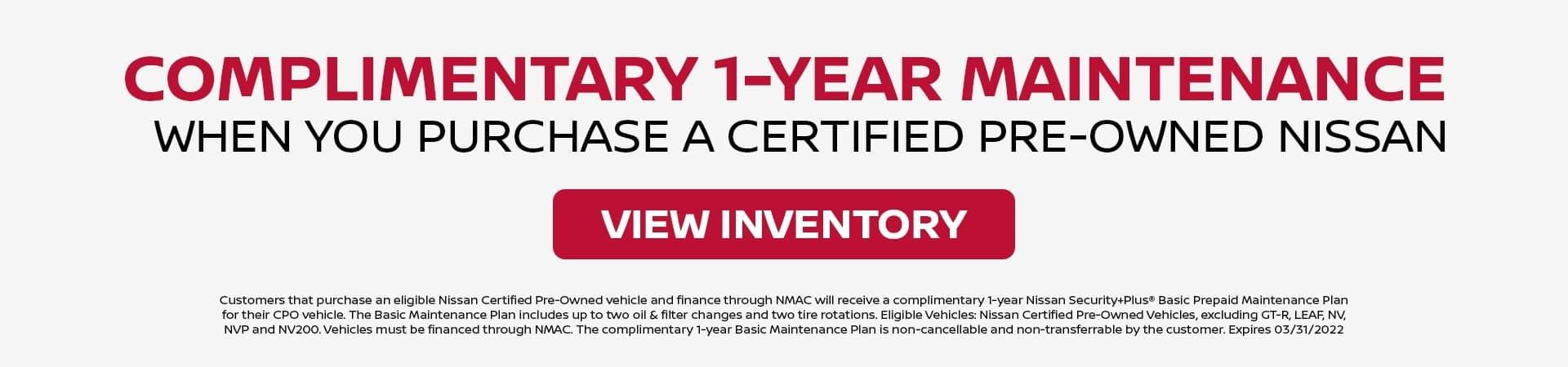 Complimentary Maintenance CPO May 21