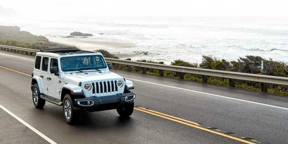 White 2020 Jeep Wrangler on Highway