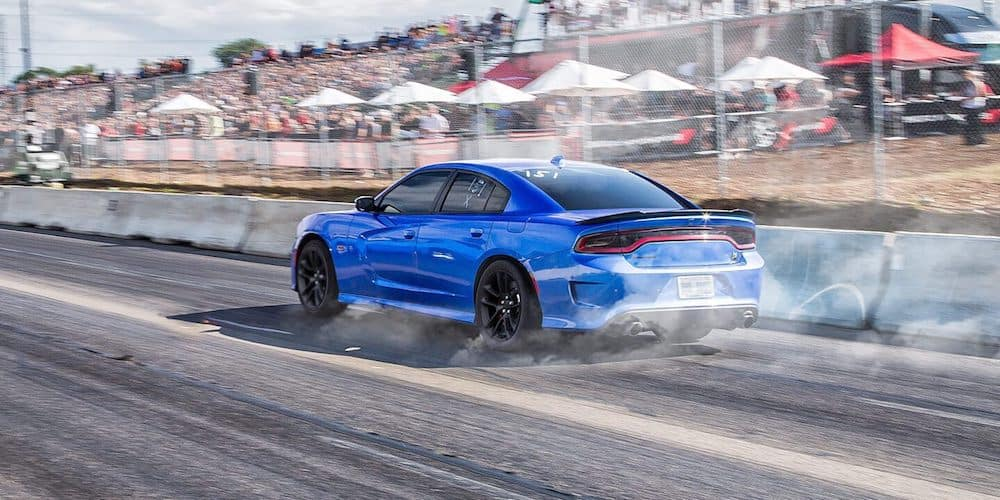 Blue 2020 Dodge Charger on Track